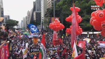 Brezilya'da Bolsonaro karşıtı gösteriler!