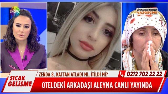 Zerda'nın oteldeki arkadaşı Aleyna canlı yayında!