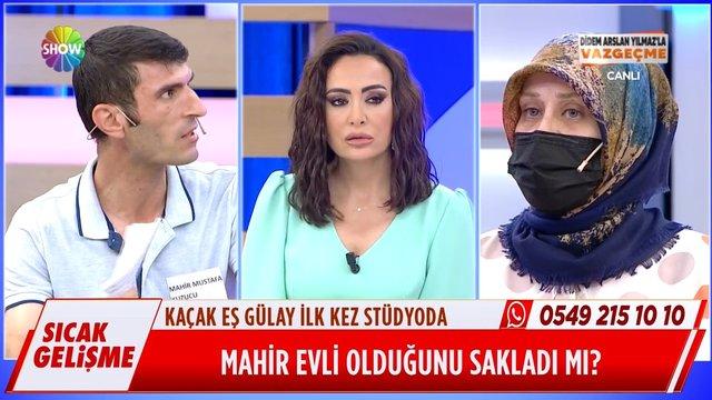 Kaçak eş Gülay ilk kez canlı yayında!