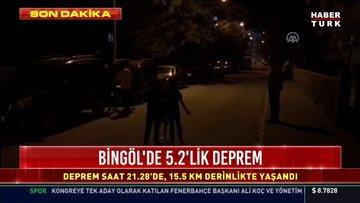 Bingöl'de 5.2 büyüklüğünde deprem!