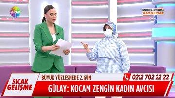 Gülay Hanım, eşinin üzerine yürüdü!