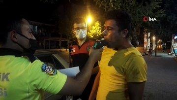 Alkollü sürücü test yapmak isteyen polise zor anlar yaşattı