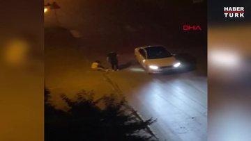 Otomobilinden inen kadını dövdü, serbest kaldı