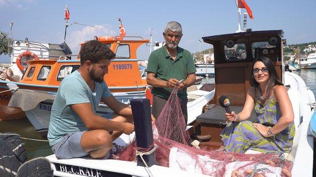 Sevcan Orhan'ın balıkçı teknesiyle Saros gezisi
