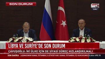 SON DAKİKA! Bakan Çavuşoğlu ve Lavrov'dan ortak açıklama