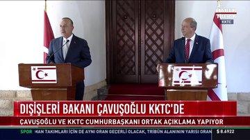 SON DAKİKA: Dışişleri Bakanı Çavuşoğlu ile KKTC Cumhurbaşkanı Tatar'dan ortak açıklamalar!