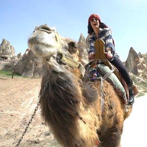 Sevcan Orhan'ın deve ile imtihanı