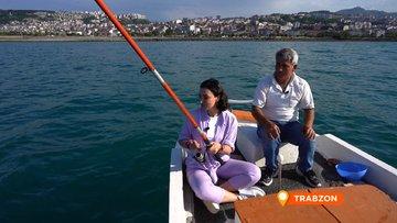 Sevcan Orhan'ın ilk balıkçılık deneyimi