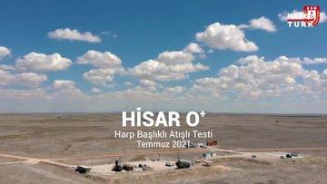 HİSAR-O test atışında hedefi tam isabetle vurdu