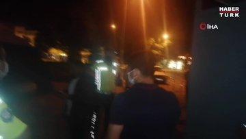 Alkollü sürücü polis ekiplerine zor anlar yaşattı
