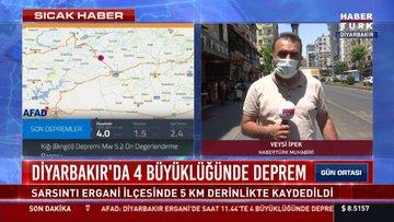 SON DAKİKA: Diyarbakır'da 4.0 büyüklüğünde deprem oldu!