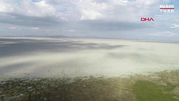 354 kilometrelik Akşehir Gölü, gölet haline geldi