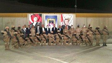 Cumhurbaşkanı Erdoğan, Şehit Jandarma Uzman Çavuş Tuncay Arslan Üs Bölgesi'ndeki askerlerin bayramını kutladı