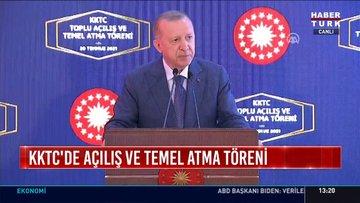 Cumhurbaşkanı Erdoğan'dan Kıbrıs Barış Harekatı'nın 47. yılı töreninde açıklamalar