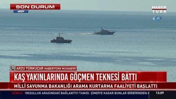 Kaş yakınlarında göçmen teknesi battı