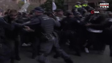 Avustralya'da Kovid-19 kısıtlamaları protesto edildi!