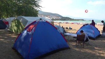 Eğirdir Gölü çadır kampının merkezi oldu