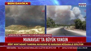 Manavgat'ta büyük yangın! Havadan ve karadan müdahale sürüyor...
