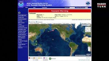 Alaska'da 8.2 büyüklüğünde deprem! Tsunami uyarısı verildi...