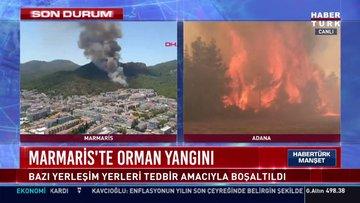 SON DAKİKA... Marmaris'te orman yangını!