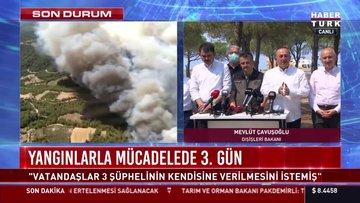 SON DAKİKA! 4 bakandan ortak açıklama... Yangınlar kontrol altına alındı mı?
