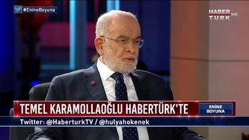 Saadet Partisi Lideri Temel Karamollaoğlu Habertürk'te | Enine Boyuna - 30 Temmuz 2021