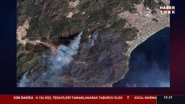 Orman yangınları uzaydan görüntülendi!