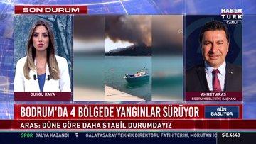 Bodrum'da 4 bölgede yangınlar sürüyor
