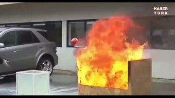 Yangın söndürme topu işlevi
