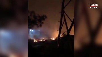 Kemerköy santralinin içindeki elektrik hatlarında patlamalar yaşanıyor