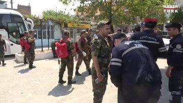 Azerbaycan askeri Çine'deki yangını söndürmeye desteğe geldi