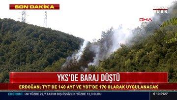 Sarıyer'de ormanlık alanda yangın çıktı