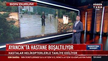 Bartın'da sel! 2 köye ulaşım sağlayan köprüler yıkıldı
