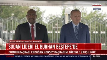 Sudan lideri El Burhan Beştepe'de