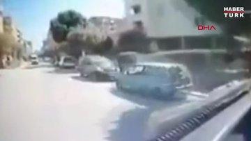 Motosiklet sürücüsü otobüsün altında kalıp öldü