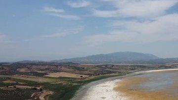 Manisa'daki Marmara Gölü kuruma noktasına geldi