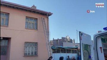 Çatıya çıkmak isterken 7 metreden aşağı düşerek yaralandı