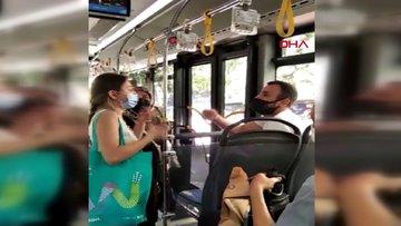 İETT otobüsünde maske tartışması