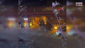 Çeşme'de 1 kişinin öldüğü bıçaklı saldırı kamerada