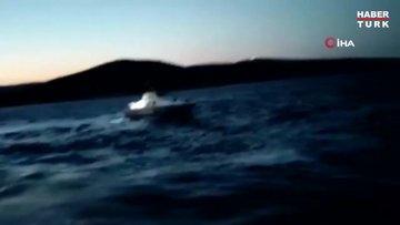 Yunan sahil güvenlik botundan Türk balıkçı teknesine taşlı taciz