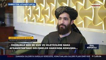 Taliban yetkilisinden Habertürk'e açıklamalar