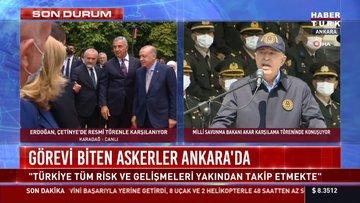 Görevi biten askerler Ankara'da