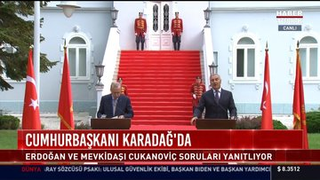 Cumhurbaşkanı Recep Tayyip Erdoğan, Karadağ Cumhurbaşkanı Milo Cukanoviç ile basın toplantısı düzenledi