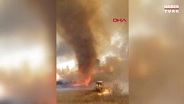 ABD'de devam eden orman yangınlarında 'Alev Hortumu' görüldü