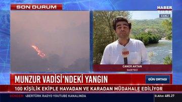 Munzur Vadisi'ndeki yangında son durum!