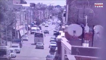 Motosiklet sürücüsünün öldüğü trafik kazası güvenlik kamerasında