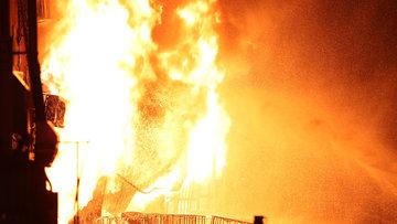 İkitelli Çevre Oto Sanayi Sitesi'nde büyük yangın