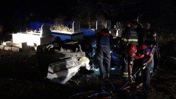 Osmaniye'de otomobil takla atarak alev aldı, sürücü yanarak öldü