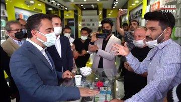 Deva Partisi lideri Ali Babacan'ın esnafla sohbeti