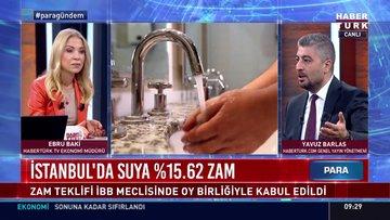 İstanbul'da suya %15.62 zam